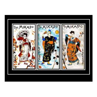 郵便はがきのヴィンテージのアジア芸術Mikado ポストカード