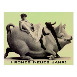 郵便はがきのヴィンテージの明けましておめでとうのfrohesのneuesのjahr ポストカード