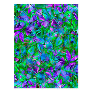 郵便はがきの花柄の抽象芸術のステンドグラス ポストカード