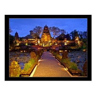 郵便はがきのSaraswatiの寺院、Ubudバリ島インドネシア ポストカード