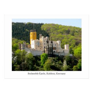 郵便はがきのStolzenfelsの城のSchlossドイツユネスコ ポストカード