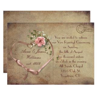 郵便はがきを結婚するヴィンテージ カード