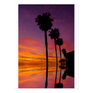 郵便はがきカールズバッド、カリフォルニアの日没 ポストカード
