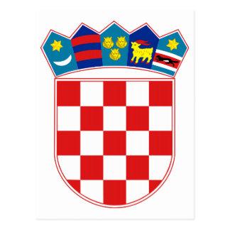 郵便はがきクロアチアの紋章付き外衣 ポストカード