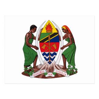 郵便はがきタンザニアの紋章付き外衣 ポストカード