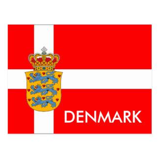 郵便はがきデンマークの旗及び紋章付き外衣! ポストカード