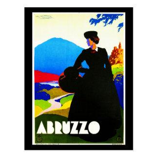 郵便はがきヴィンテージ旅行アブルッツォ2 ポストカード