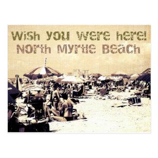 郵便はがき北のMyrtle Beachサウスカロライナ ポストカード