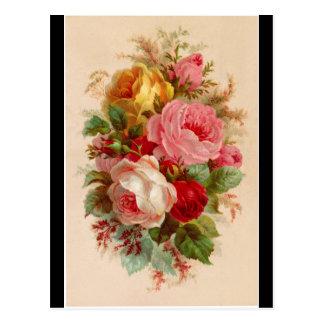 郵便はがき-ばら色の花束 ポストカード