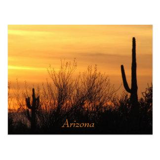 郵便はがき--アリゾナの日没3 ポストカード