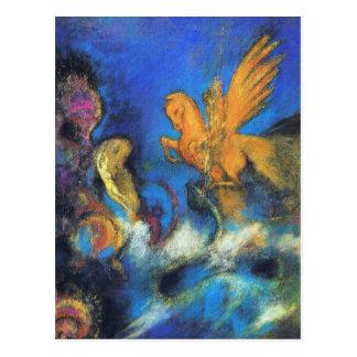 郵便はがき:  オディロン・ルドン著ロジャー及びアンゼリカ2 ポストカード