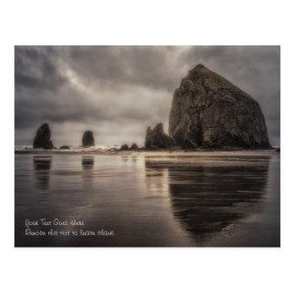 郵便はがき: 三角波の石および針 ポストカード
