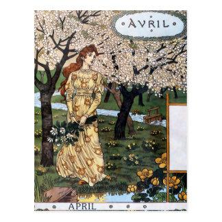 郵便はがき: 仮種皮- Avrilの月 ポストカード