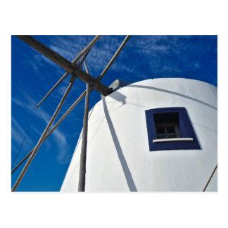 郵便はがき: 旧式な風車。 ポルトガル ポストカード