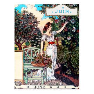 郵便はがき: 6月- Juinの月 ポストカード
