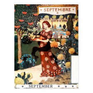 郵便はがき: 9月- Septembreの月 ポストカード
