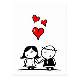 郵便はがき- Brautpaar -結婚式-新郎新婦 ポストカード