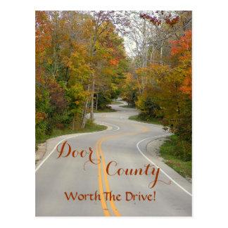 """郵便はがき、""""DOOR郡(WIS。)--ドライブの価値を持って! ポストカード"""