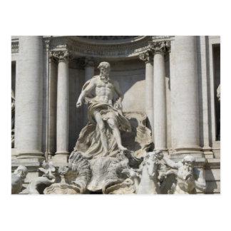 郵便はがき--Treviの噴水の彫像 ポストカード