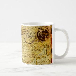 郵便はがきFrançais コーヒーマグカップ