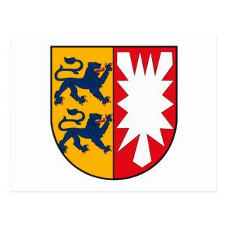 郵便はがきSchleswigホルスタインの紋章付き外衣 ポストカード