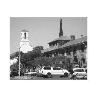 郵便局および記念の時計 キャンバスプリント