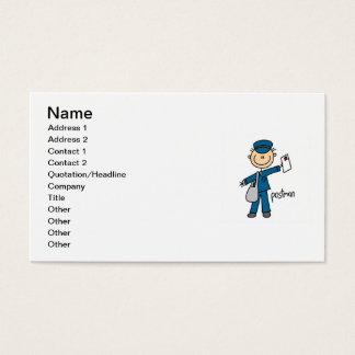 郵便局員の棒の姿 名刺
