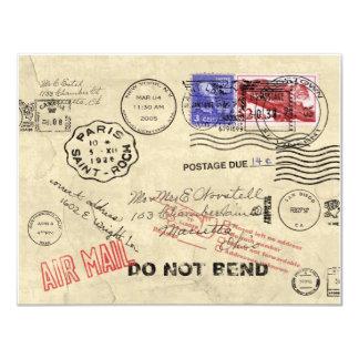郵便招待状で失った カード