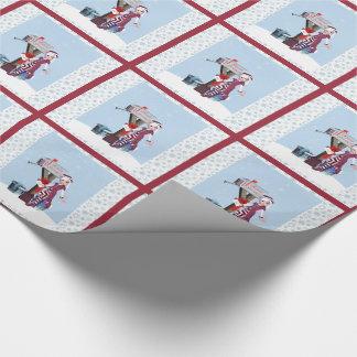 郵便配達員の小妖精や小人の休日の包装紙 ラッピングペーパー