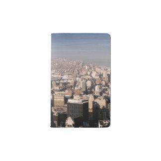 都市の全景 ポケットMoleskineノートブック