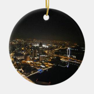 都市の夜眺め セラミックオーナメント