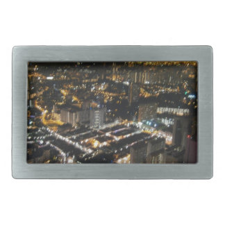 都市の夜眺め 長方形ベルトバックル
