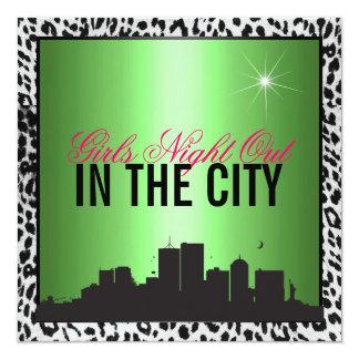 都市の女の子夜 カード