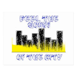 都市の音を感じて下さい ポストカード