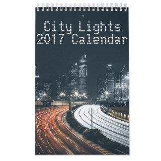 都市はカレンダー2017年をつけます カレンダー