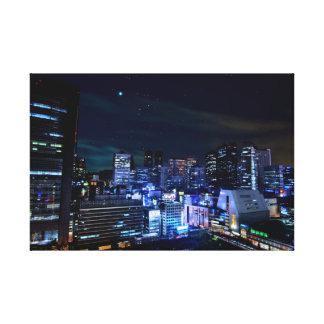 都市は夜空6をつけます キャンバスプリント