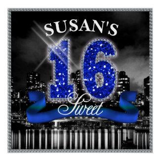 都市はSweet sixteen青いID118をつけます ポスター