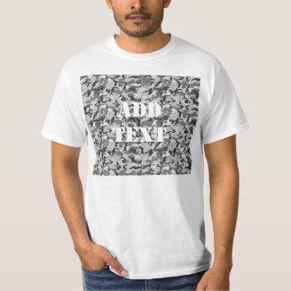 都市カムフラージュパターン-黒及び灰色 Tシャツ