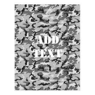 都市カムフラージュ-黒及び灰色 ポストカード