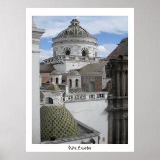 都市キト古いエクアドルポスター ポスター