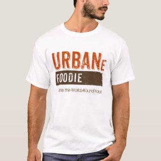 都市グルメのブラウンのロゴのワイシャツ Tシャツ