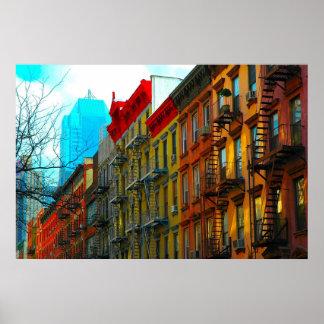 """都市ゴリラのアートワークによる""""地獄台所通り""""の ポスター"""