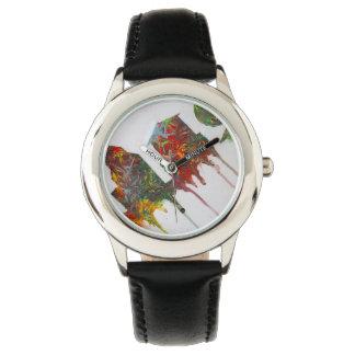 都市スカイラインの抽象芸術の腕時計 腕時計