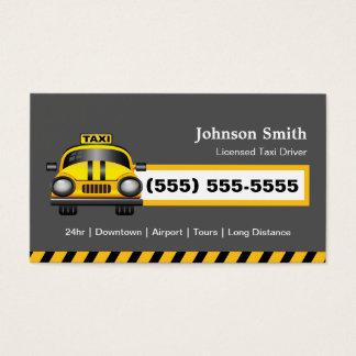 都市タクシー運転手の運転者-黄色い帽子 名刺