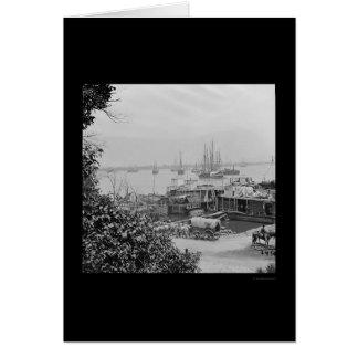 都市ポイント1864年の水辺地帯の供給のボート カード