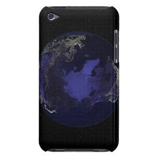 都市ライト5を示す夜の完全な地球 Case-Mate iPod TOUCH ケース