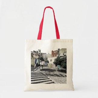 都市リスボンの洗濯ライン トートバッグ