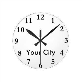 都市一流の時計のテンプレート ラウンド壁時計