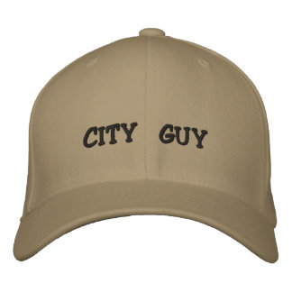 都市人の帽子 刺繍入りキャップ
