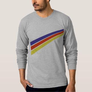都市出国- 3ストライブ柄 Tシャツ